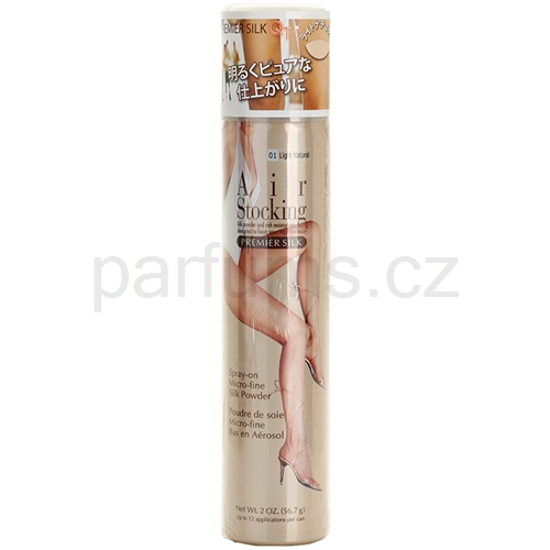 AirStocking Premier Silk punčochy ve spreji odstín Light Natural (Micro-Fine Silk Powder) 56,7 g