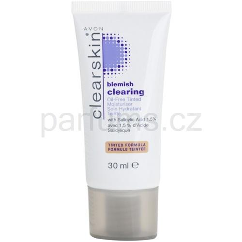 Avon Clearskin Blemish Clearing tónovací hydratační krém pro problematickou pleť odstín Medium (Oil - Free Tinted Moisturiser) 30 ml