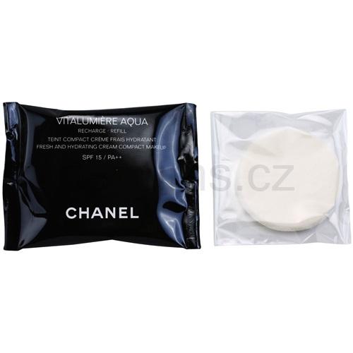 Chanel Vitalumiére Aqua hydratační krémový make-up náhradní náplň odstín 40 Beige (Fresh & Hydrating Cream Compact Makeup) 12 g