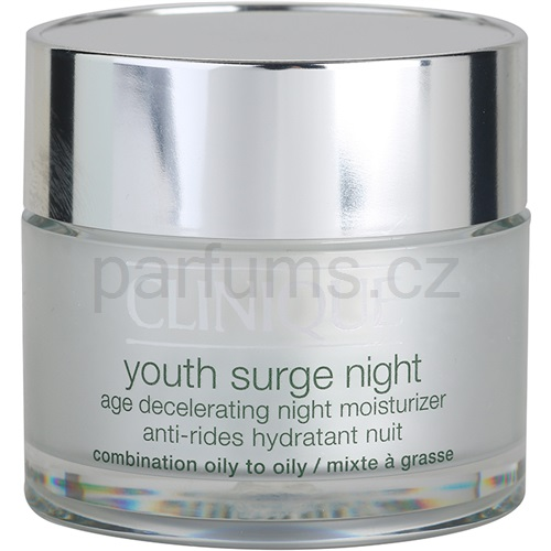 Clinique Youth Surge noční hydratační krém pro smíšenou a mastnou pleť (Moisturizer Night Cream) 50 ml