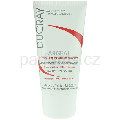 Ducray Argeal šampon pro mastné vlasy (Sebum-absorbing Treatment Shampoo Frequent Use - Greasy Hair) 150 ml