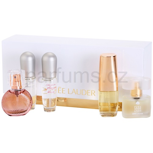 Estée Lauder Spray Favorites 5 Ks I. Sensuous Nude+Pure White Linen+Beautiful Love+Pleasures+Pleasures Bloom dárková sada
