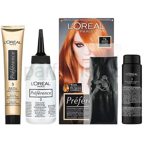 L'Oréal Paris Préférence barva na vlasy 74 Mango