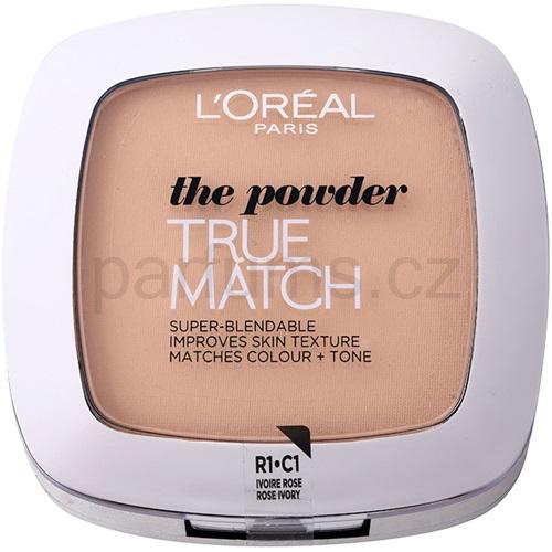 L'Oréal Paris True Match kompaktní pudr odstín C1 Rose Ivory 9 g