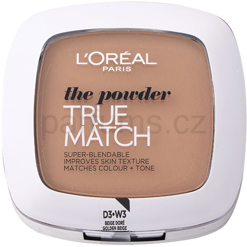 L'Oréal Paris True Match kompaktní pudr odstín W3 Golden Beige 9 g