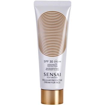 Fotografie Sensai Silky Bronze protivráskový krém na opalování SPF 30 (Cellular Protective Cream For Face) 50 ml